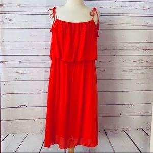 New LAUNDRY Sz 8 summer dress orange NWOT